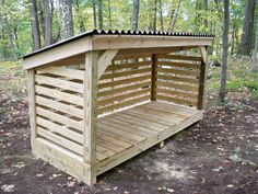 You want to build a outdoor firewood rack? Here is a some firewood storage and creative firewood rack ideas for outdoors. Lots of great building tutorials and DIY-friendly inspirations! Wood Storage Sheds, Storage Shed Plans, Storage Rack, Workshop Storage, Storage Ideas, Kayak Storage, Table Storage, Diy Storage, Firewood Shed