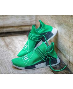 ebf55d2c9a88 Adidas NMD Primeknit Pharrell Williams Human Race Hu Green Trainers Shoes  Sneakers