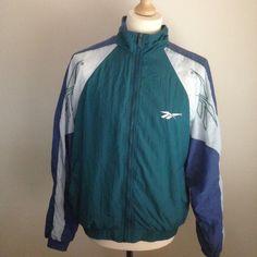Image of VINTAGE REEBOK TRACK JACKET M Vintage Windbreaker, Reebok, Adidas Jacket, Track, Athletic, Classic, Jackets, Image, Fashion