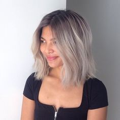 This short hair ombre look is one of many ways to embrace the gray hair trend.