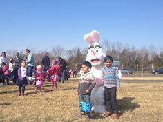 """The Easter Bunny came to visit our resident kids here at Willowsford this morning! They also participated in a """"Hunt for the Golden Egg"""", spoon races, egg dying and sack races! More pictures to come! www.willowsford.com"""