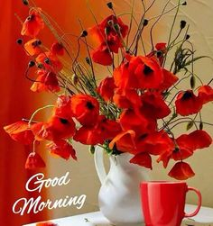 nice to see on your table with your morning coffee. Good Morning Beautiful Pictures, Good Morning Images Flowers, Good Morning Roses, Good Morning Cards, Good Morning Images Hd, Good Morning Coffee, Good Morning Picture, Good Morning Greetings, Morning Pictures