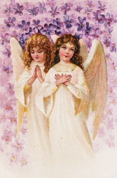 vintage angels are so serene and calming