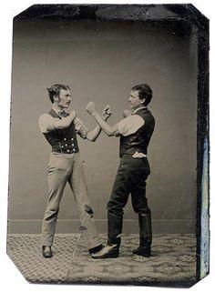 Pugilists (c. 1870s, tintype)