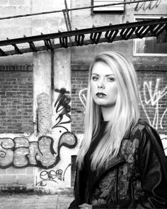 Blonde model set against a graffiti wall Blonde Model, Graffiti Wall, Broadway Shows