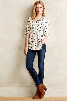 Level 99 Liza Skinny Jeans #anthropologie this outfit is darling