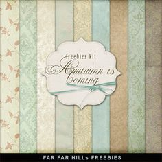 Freebies Vintage Style Kit of Backgrounds - Autumn is Coming