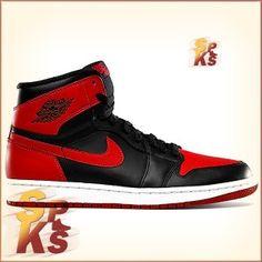 meet 29000 05609 Air Jordan 1 (I) Retro Hi OG BRED Black   Varsity Red-White 555088-023