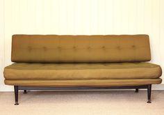 Vintage Retro Mid Century Day Bed Sofa Studio Couch Danish Style | eBay