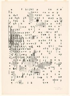 Jasper Johns. Alphabets. 1962