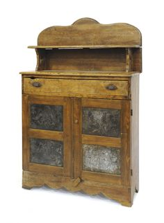 Pine pie safe, c., with punched tin eagle panels, 60 h.im pretty sure i need this! Primitive Cabinets, Old Cabinets, Primitive Furniture, Primitive Antiques, Country Furniture, Country Decor, Antique Furniture, Painted Furniture, Country Primitive