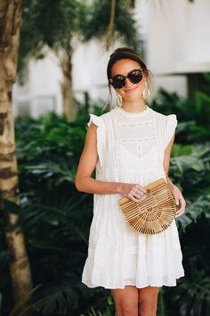 lauren sims little white dress -