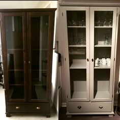 Ikea Hack DIY Markör new colour selfmade Hacks Diy, Ikea Hacks, Ikea Markor, Ikea Ideas, Bonus Rooms, China Cabinet, Home Office, Diy And Crafts, Room Ideas
