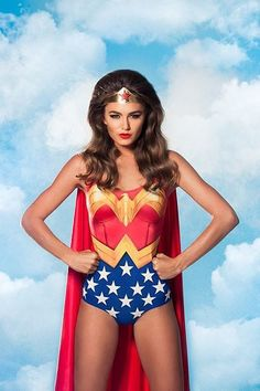 New Wonder woman one piece bodysuit You will get the bodysuit only. The cape, headband and wig are not included. There are several different suits on the market ranging in quality. They will all use the SAME pictures.