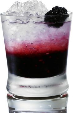 Black Swan=4 blackberries muddled in bottom of glass + 1.5 oz vodka+3 oz lemonade+crushed ice + 1 blackberry garnish