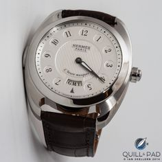 Dressage L'Heure Masquée (Time Veiled) by Hermés Hermes Watch, Dress Watches, Dressage, Omega Watch, Rolex Watches, Orange, Accessories, Clocks, Show Jumping