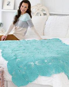 Tropical Pineapple Squares Crochet Blanket | AllFreeCrochetAfghanPatterns.com