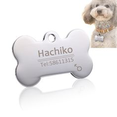 Personalized Stainless Steel Pet ID Tag #cat #customized #dog