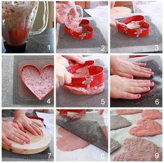 recycled paper valentine diy