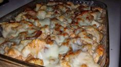 E or S, depending on cheese amount Buffalo Chicken Veggie Bake  1 Head of Cauliflower 2-3 Chicken Breasts Crumbled bacon (about 2-3 strips) Mozzarella cheese for topping (to your liking)  Sauce: about 1/2C - 3/4C Franks Red Hot 1 C of Plain Greek Yogurt 1/4 C Feta Cheese (OR blue cheese) 1/3 C Grated Parmesan or Romano cheese 1/2 T Garlic powder 1/2 T Onion powder 1/2 Tsp Salt 1/2 Tsp dry mustard pinch of pepper