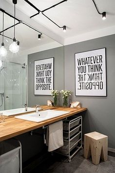 'Minimal Interior Design Inspiration' is a biweekly showcase of some of the most perfectly minimal interior design examples that we've found around the web - Bad Inspiration, Interior Design Inspiration, Bathroom Inspiration, Mirror Inspiration, Design Interior, Interior Modern, Casa Hipster, Bathroom Interior, Small Bathroom