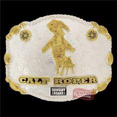 Fivela Calf Roper c/ Banho Dourado e Prata - Cowboy Brand: Mulheres