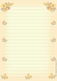 papier à lettre ligné   flores-67.jpg (680×960)   sobres y folios decorados.   Pinterest