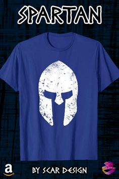 Pop Culture Geek, Gamer, Movie fans Tee Shirts, Posters and Gifts by Scar Design Graphic T Shirts, Tee Shirts, Sparta Warrior, Greek Warrior, Warrior Helmet, Spartan Helmet, Cool Shirts For Men, T Shirts For Women, Marine Corps Shirts