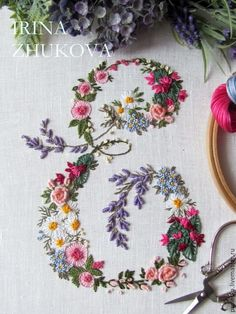 Wonderful Ribbon Embroidery Flowers by Hand Ideas. Enchanting Ribbon Embroidery Flowers by Hand Ideas. Hand Embroidery Patterns Free, Embroidery Alphabet, Embroidery Stitches Tutorial, Crewel Embroidery Kits, Embroidery Flowers Pattern, Embroidery Monogram, Simple Embroidery, Silk Ribbon Embroidery, Vintage Embroidery
