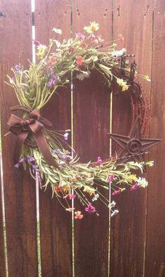 Western/Barbed Wire Wreath $75