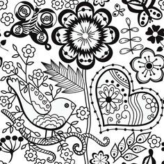Sample Page From Gigis Garden Coloring Book