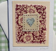 WILLIAM MORRIS fabric used in hand-stitched card designed/made by Helen Drewett | eBay
