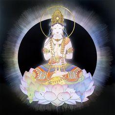 大日如来 Dalai Lama, Le Tibet, Japanese Goddess, Spiritual Images, Japanese Artwork, Meditation Art, Oriental, Divine Mother, Sacred Feminine