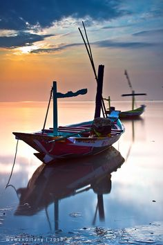 Sunrise Boats in Bali, Indonesia