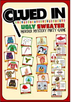 Our Murder Mystery Ugly Sweater party game requires no scripts, no complications, just hilarious fun and whodunnit intrigue. Christmas Dinner Party Games, Funny Christmas Games, Christmas Games For Adults, Christmas Humor, Christmas Fun, Holiday Games, Outdoor Christmas, Staff Christmas Party Ideas, Office Christmas Party Games