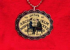 OUIJA BOARD FORTUNE TELLER PSYCHIC GAME PENDANT NECKLACE #Unbranded
