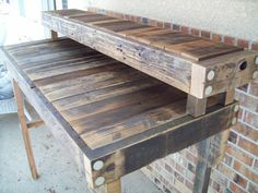 Reclaimed Wood Standing Desk in a Natural by ReclaimedandRustic, $425.00  great in my garage!