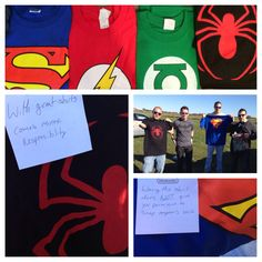 Asking your groomsmen. Superhero wedding