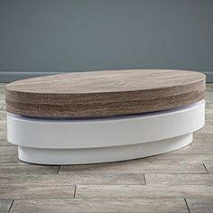 Large Retro High Gloss Walnut and Cream 110cm Hoop Coffee Table / TV Stand with Legs: Amazon.co.uk: Kitchen & Home