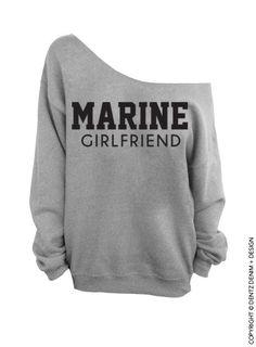 "Use coupon code ""pinterest"" Marine Girlfriend - Gray Slouchy Oversized Sweatshirt by DentzDesign"
