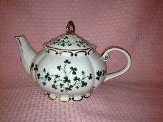 Irish Shamrock Porcelain Princess Teapot  MADE IN USA #Fielders