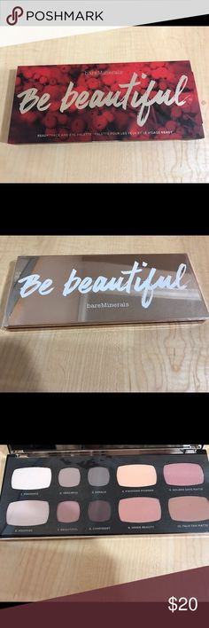 NEW Bare Minerals Be Beautiful Eye Face Palette Received as a gift, never used. Retail is $45. Packaging box ripped a bit as I tried to open it(see pic) bareMinerals Makeup