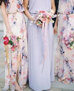 Show Me Your Mumu Bridesmaid Dresses in Lilac and Abers Babers