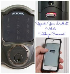 Upgrade that old mechanical deadbolt with an electronic remote-access lock from Schlage! @TheDIYVillage reviews the Schlage Connect™. #tech #homeautomation