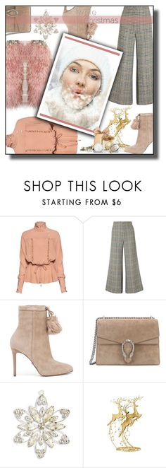 """""""White Christmas"""" by nusongbird ❤ liked on Polyvore featuring Stella Jean, Isabel Marant, MICHAEL Michael Kors, Gucci and Melrose International"""