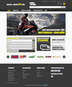 E-Commerce Webdesign made by 4market | www.4market.de/ | Onlineshop für Motorrad-Zubehör