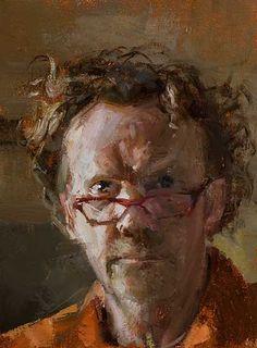 Daily Painting :: Self Portrait by Julian Merrow-Smith • 3 February 2013 √ http://shiftinglight.com/2013/02/self_portrait_7.html