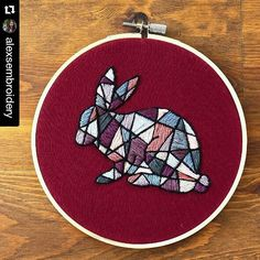 #xstitchersofinstagram - alexsmbroidery's geometric rabbit - Mr X Stitch