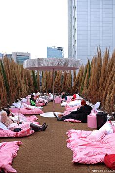 [KOREA] STYLENANDA PINK HOTEL & PINK POOL CAFE – Myeongdong, Seoul   ANAKJAJAN.COM Shop Interior Design, Cafe Design, Stylenanda Pink Hotel, Korea Cafe, Pink Cafe, Rooftop Party, Shop Interiors, Seoul, Fun Crafts