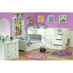 My girl would have so much fun with her Sissy if they had these bunk beds for their sleep-overs.